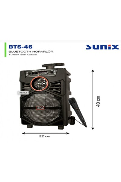 Sunix Bts-46 Bluetooth Hoparlör