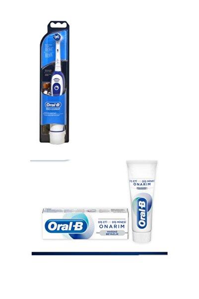Oral-B Oral B Yetişkin Pilli Diş Fırçası+75 Ml Oral B Diş Macunu