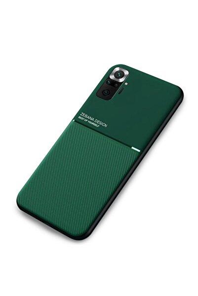 Zebana Xiaomi Redmi Note 10 Pro Max Kılıf Design Silikon Kılıf Yeşil