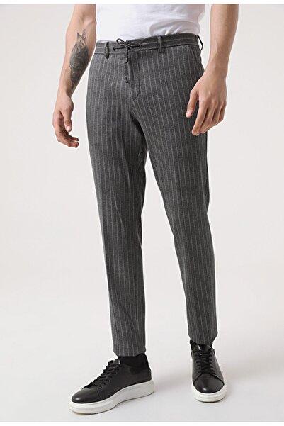 Damat Damat Slim Fit Antrasit Örme Jogger Pantolon