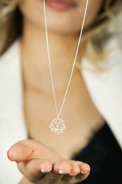 NikaŞ 925 Ayar Gümüş Lotus Çiçeği Gümüş Kolye