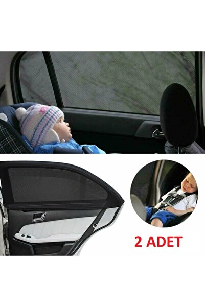 Ankaflex 2 Adet Oto Yan Cam Perdesi Araba Arka Güneşlik Araç Anne Bebek Çocuk Perde Arka Koltuk Emzirme Örtü