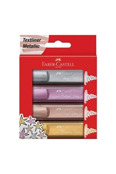 Faber Castell Fosforlu Kalem 46 Metalik 4 Lü