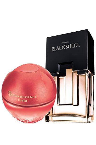 AVON Black Suede Erkek Parfüm Ve Incandessence Flame Kadın Parfüm Paketi