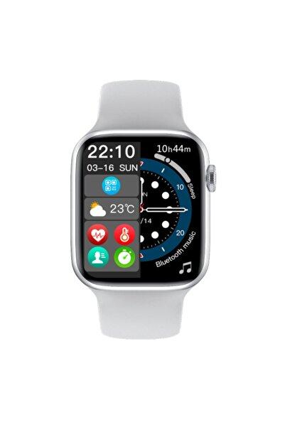 HANGAREX Watch 7 Yeni Seri Yan Düğme Aktif - Beyaz - Android Ve Apple Uyumlu Akıllı Saat Smart Watch