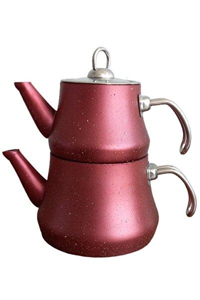 Sara Mutfak Eşyaları Sara Granit Çaydanlık Aile Boy Çelik Kulp