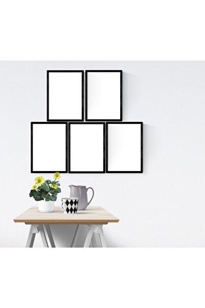 YED Frame A4 - 21x30cm Resim Çerçeve Seti - 5'li - Siyah -