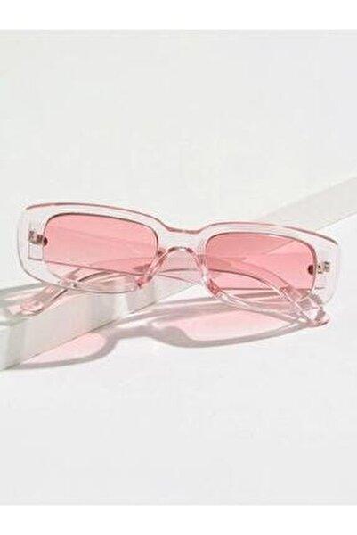 Vintage Şeffaf Pembe Güneş Gözlüğü