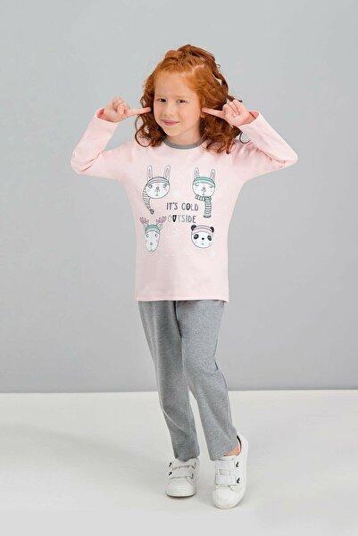 ROLY POLY It's Cold Outside Pembe Kız Çocuk Pijama Takımı