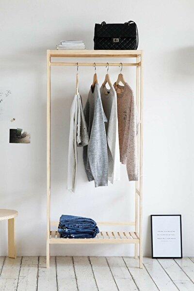The BEST Shopping Ayaklı Portmanto Elbise Askısı Açık Gardrop 64x144x30 cm