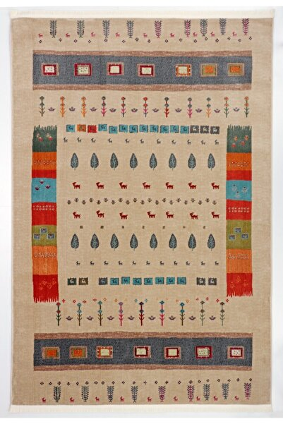 Nakka Halı Renkli Eskitme Halı Vıntage Koleksiyon Al26a