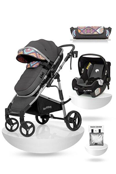 Kiwi Bestway All In One Travel Sistem Iskandinav Tasarım Bebek Arabası, Oto Koltuğu, Bakım Çantası