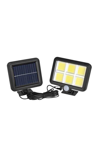 gaman Güneş Enerjili Kablolu Mini Sokak Lambası Solar Duvar Lambası Hareket Sensörlü 3 Mod 120cob Led
