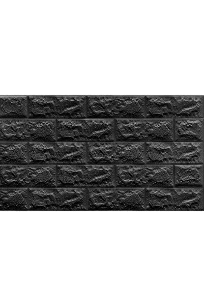 Renkli Duvarlar Kendinden Yapışkanlı Siyah Tuğla Desen Duvar Kağıdı Panel 70x38cm