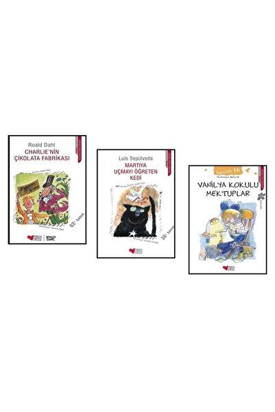 Can Çocuk Yayınları Martıya Uçmayı Öğreten Kedi, Vanilya Kokulu Mektuplar Ve Charlie'nin Çikolata Fabrikası 3 Roman Seti