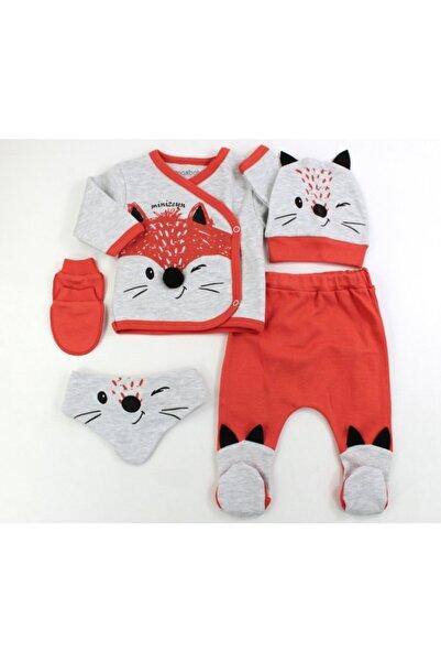 VERONA TARZ Yeni Sezon Rakkun Erkek Bebek 5'li Hastane Çıkış Seti Yenidoğan Kıyafeti