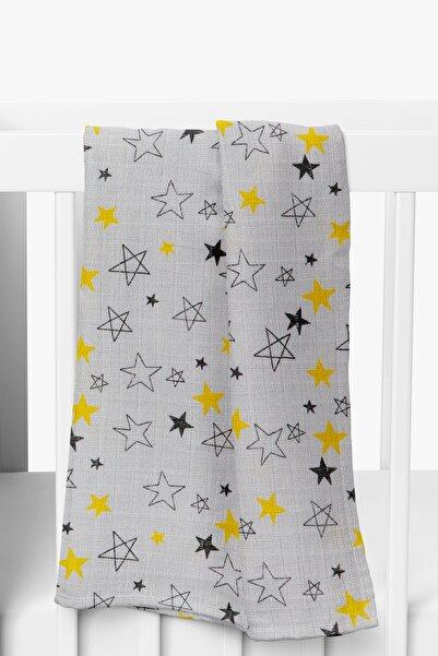 hepbaby Çok Amaçlı Müslin Bebek Battaniyesi 70x70 - Yıldız Desenli