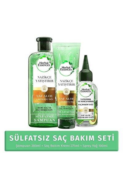 Herbal Essences Sülfatsız Aloe ve Avokado SET ( 380ml+275ml+100ml)