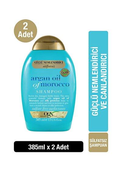 OGX Extra Güçlü Nemlendirici ve Canlandırıcı Argan Oil of Morocco Sülfatsız Şampuan 385 ml x2