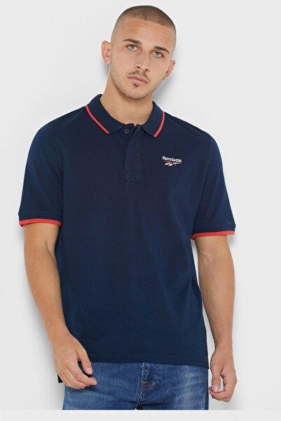 Reebok Unisex Mavi Polo Yaka T-shirt