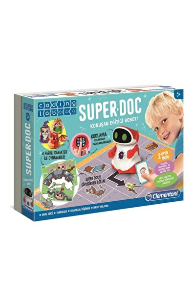 CLEMENTONI 64960 Super Doc - Eğitici Konuşan Robot / Kodlama-coding Lab +5 Yaş