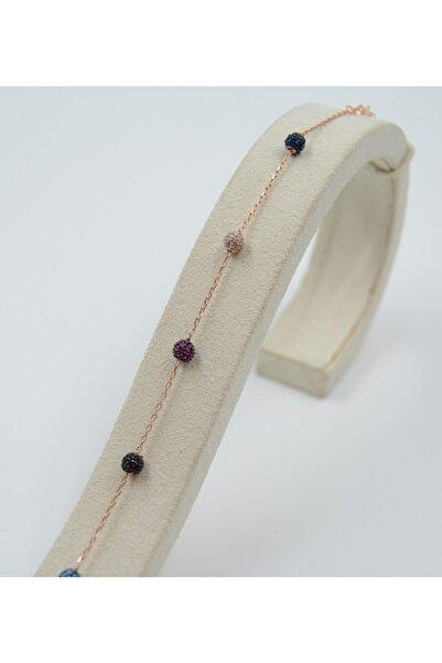 Swarovski Kadın Mavi Zirkon Taşlı 925 Ayar Gümüş Bileklik
