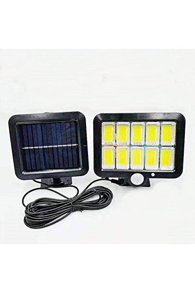 gaman 120 Led 3 Mod Güneş Enerjili Solar Bahçe Sokak Lambası Sensörlü Beyaz Işık