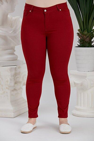 RMG Büyük Beden Pamuk Kanvas Pantalon