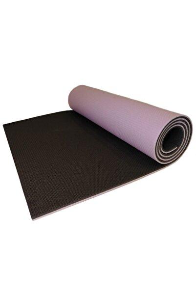 Housess Yukon 8,5 Mm Çift Taraflı Mor Siyah Pilates Matı Iz Yapmaz Kaymaz Egzersiz Minderi