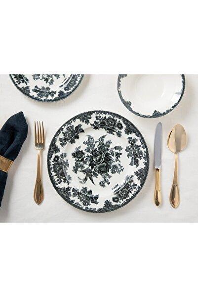 English Home Rustic Elegance Porselen 12 Parça Yemek Takımı 15 Cm - 19 Cm -25 Cm Siyah