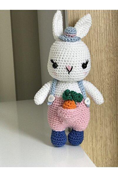 Minimiki Amigurumi Hobi Havuçlu Tatlı Tavşan Yapım Kiti (pembe)