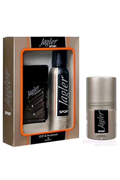 Jagler Sport Edt 90 ml + 150 ml Deodorant + 50 ml Roll-on Erkek Parfüm Seti 9849849984