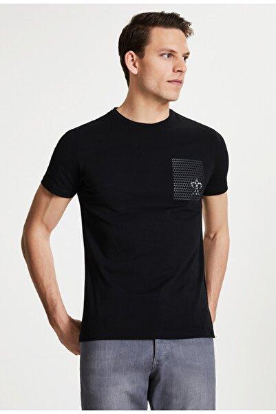 Damat Damat Siyah Çizgili Baskılı T-shirt