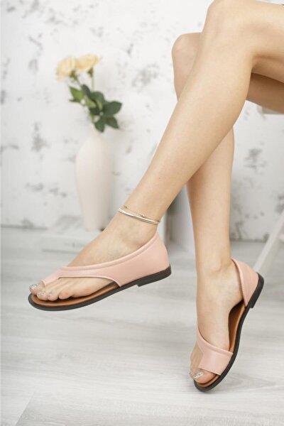 Moda Frato Kadın Pembe Parmak Arası Sandalet