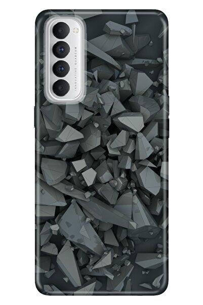 Oppo Reno 4 Pro Uyumlu Kılıf Pure Modern Desenli Silikon Broken