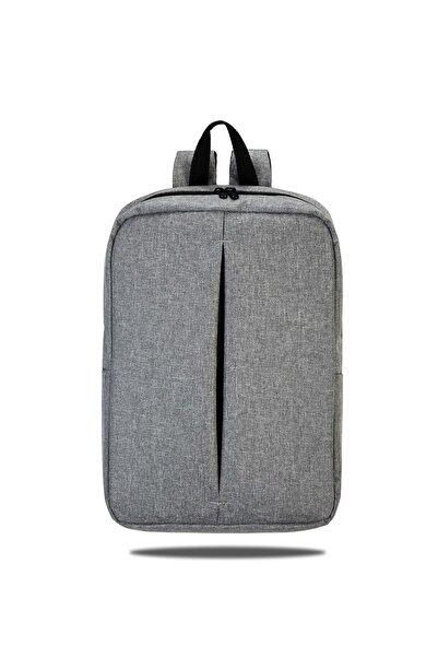 İDABAG Notebook Laptop Sırt Çantası Gri 15,6 Inç