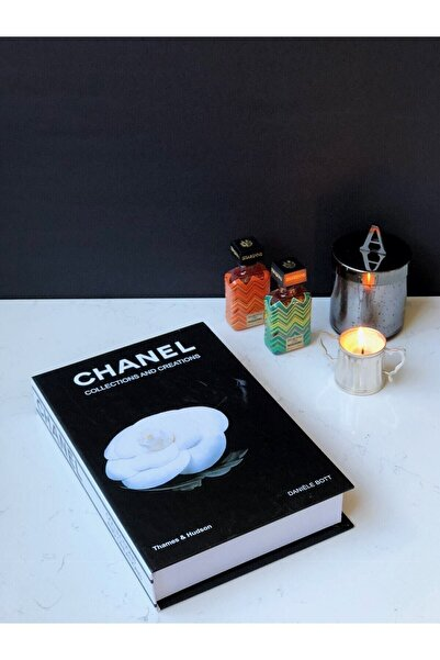 irayhomedecor Siyah Dekoratif Kitap Kutusu