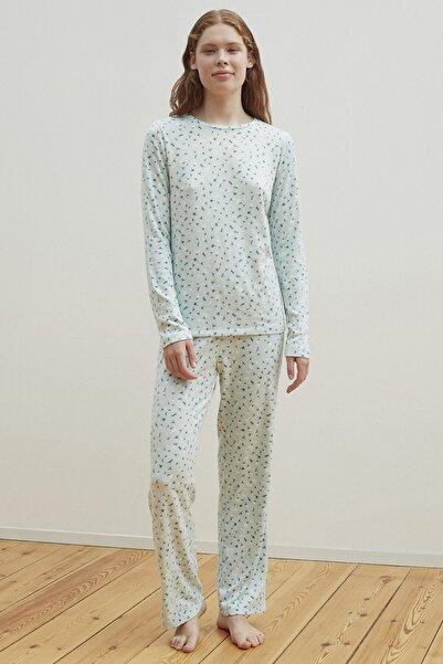 Penti Mint Ditsy Termal Pijama Takımı