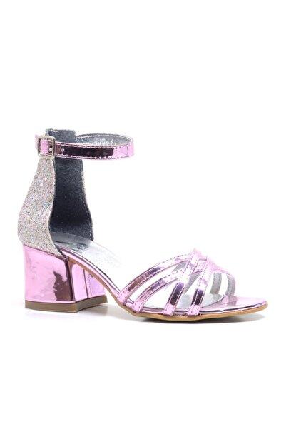 Sarıkaya Kız Çocuk Pembe Aynalı Kalın Topuklu Abiye Ayakkabı