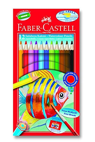 Faber Castell Faber Aquarel Karton Kutu Suluboya Kalemi 12 Renk