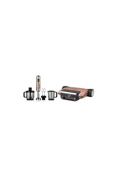KORKMAZ A810-01 Tostema Midi Tost Makinesi-a447-09 Mia Mega Blender Set - Rosagold