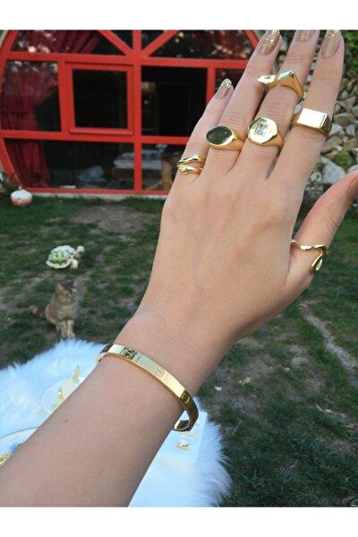 Takimakstore Cartier Bileklik Kalın Model Çelik Üzeri Altın Kaplama (KARARMAZ-PASLANMAZ)