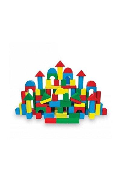 Karsan Oyuncak Woodoy 100 Parça Renkli Ahşap Bloklar