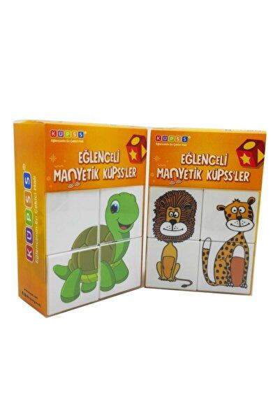 BİLMİŞ ÇOCUK Manyetik Puzzle Ikili Set (mıknatıslı Küp Sevimli Hayvanlar + Hayvanlar Puzzle)