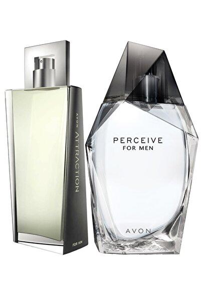 AVON Perceive 100 Edt ml ve Attraction Edt 100 ml Erkek Parfüm Paketi