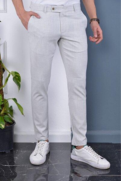 Bürke Erkek Taş Rengi Italyan Kesim Slimfit Kumaş Pantolon