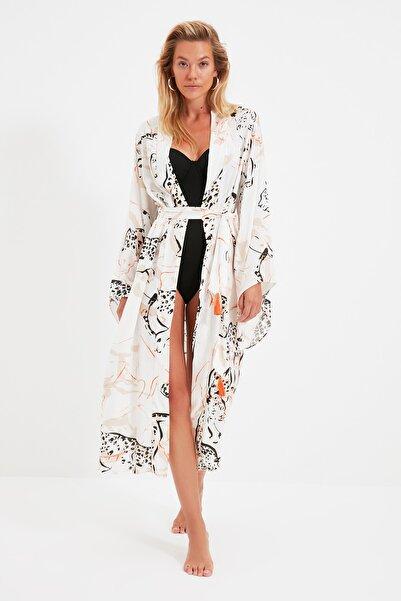 TRENDYOLMİLLA Animal Baskılı Kimono&Kaftan TBESS21KM0168