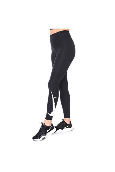 Nike W Nk Swoosh Run Tight 7/8 Kadın Siyah Koşu Tayt Da1145-010