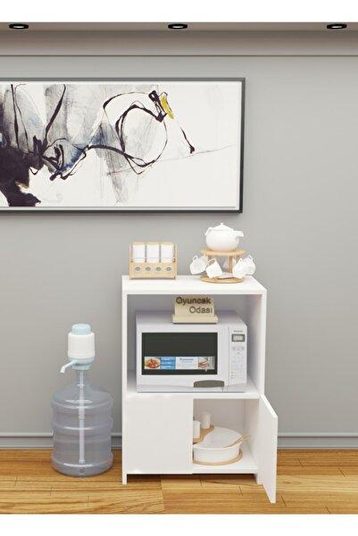 Mobsan Çok Amaçlı Set Altı Dolap Mutfak Mikrodalga Fırın Dolabı Beyaz
