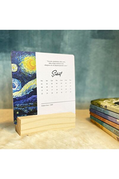 Kitapeli Van Gogh 2022 Masa Takvimi Yeni Yıl- Ahs?ap Ayaklı -777000003